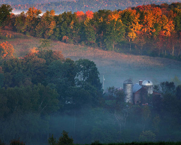 Vermont Poster featuring the photograph Autumn Scenic - West Rupert Vermont by Thomas Schoeller