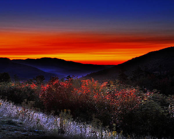 Sunrise Poster featuring the photograph Autumn Sunrise by William Carroll