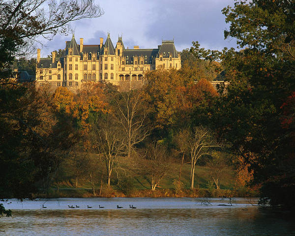 North America Poster featuring the photograph Autumn View Of The Biltmore by Melissa Farlow