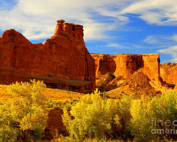 Arches Poster featuring the photograph Autumn Vista by Dennis Hammer