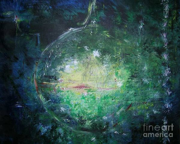 Abstract Poster featuring the painting Awakening Abstract II by Lizzy Forrester