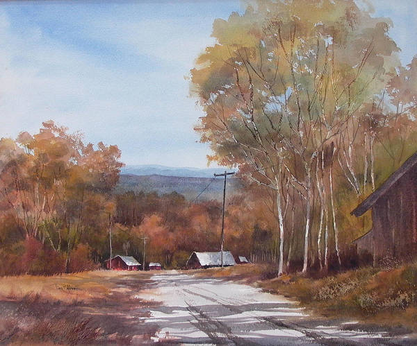 Landscape Poster featuring the painting Awesome Autumn by Tina Bohlman
