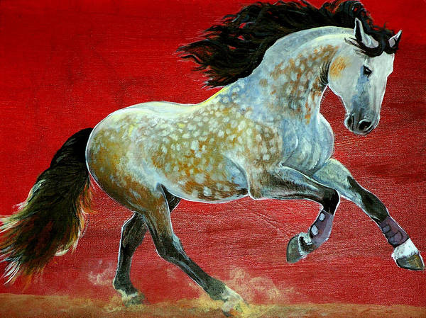 Horse Poster featuring the painting Awesome Brioso by Jenn Cunningham