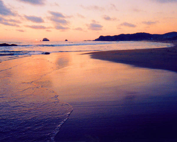 Sunset Poster featuring the photograph Awesome Zipolite Sunset 2 by Lyle Crump