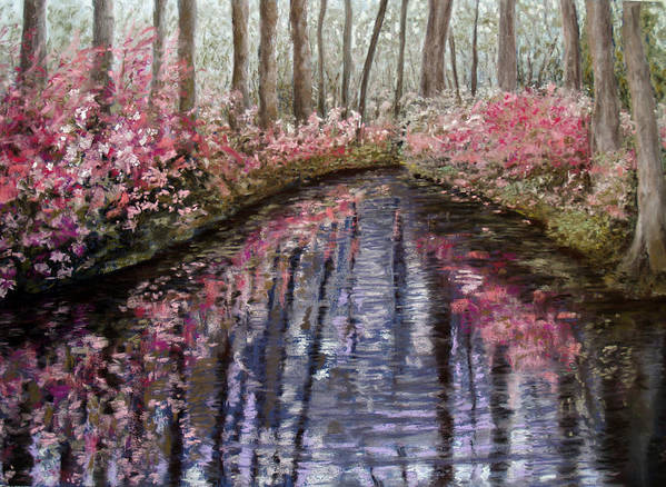 Landscape Poster featuring the painting Azalea River by Susan Jenkins