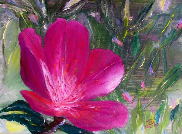 Flower Poster featuring the painting Azalea by Tony Rodriguez