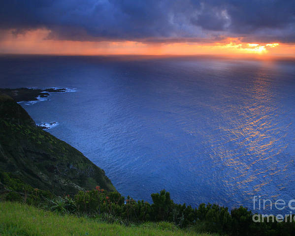 Island Poster featuring the photograph Azores Islands Sunset by Gaspar Avila