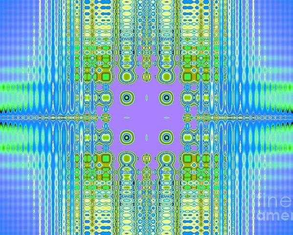 Abstract Poster featuring the digital art Aztec Computer by Thomas Smith