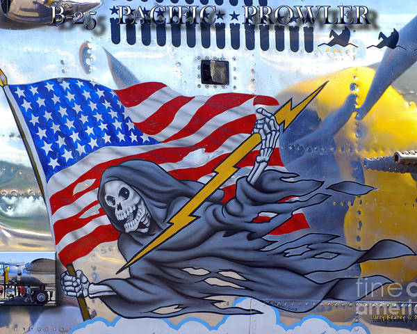Arlington Poster featuring the photograph B-25 Pacific Prowler Nose Art by Larry Keahey