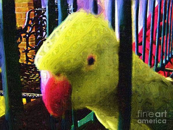 Parrot Poster featuring the painting Baby by Deborah Selib-Haig DMacq