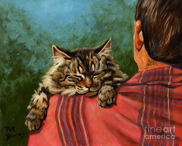 Cat Poster featuring the painting Babyface by Pat Burns