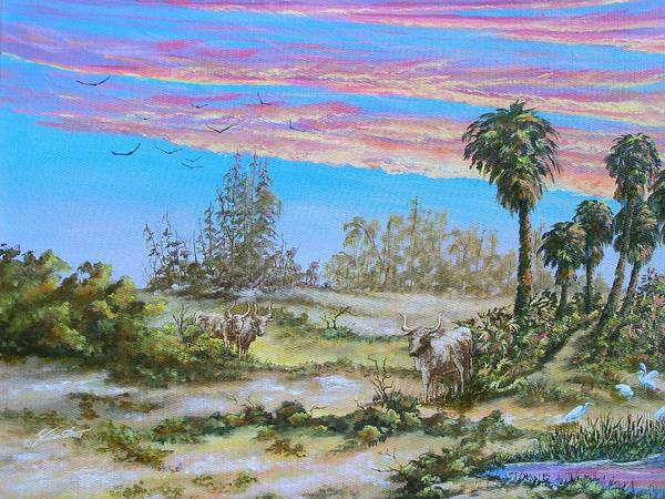 Landscape Poster featuring the painting Back Forty One by Dennis Vebert