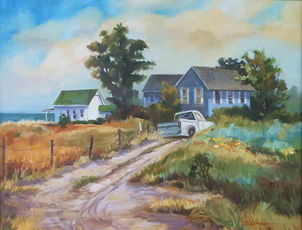 Landscape Poster featuring the painting Back Road By The Bay by Dianna Willman