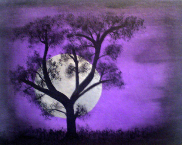 Scarry Nights Poster featuring the painting Bad Moon by James Jones