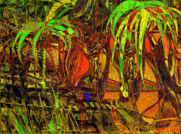 Abstract Poster featuring the painting Bahama Afternoon by Anne Weirich