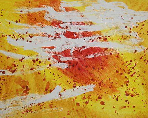 Abstract Poster featuring the painting Bailando En El Sol by Lauren Luna