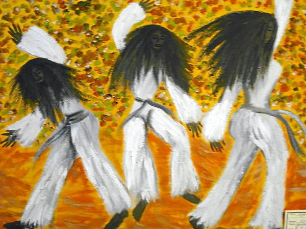 Dancers Poster featuring the painting Bailar N Los Blanco by BJ Abrams