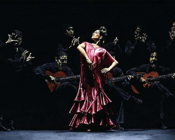 Flamenco Poster featuring the painting Bailarina Orgullosa Del Flamenco by Richard Young