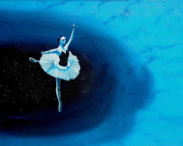 Oil Painting. Ballerina. Ballerina Dancing. Universal Balance. Surreal Impressionism Poster featuring the painting Balance by Ivan Rijhoff