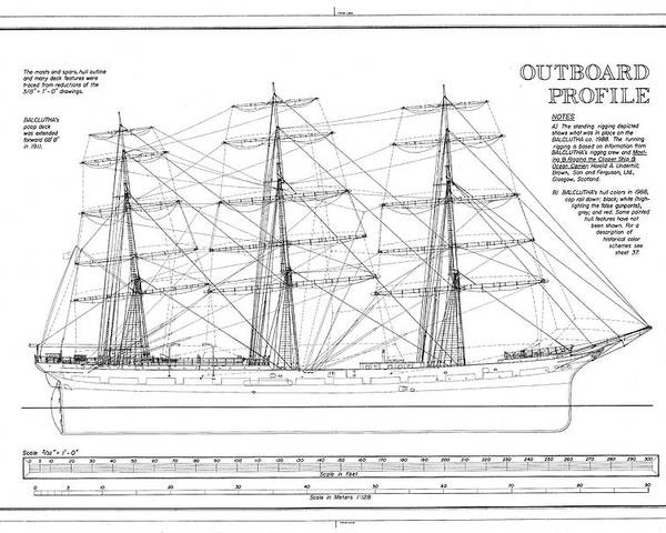 Phenomenal Balclutha Ship Outboard Profile Diagram Poster By Artassociates Wiring Cloud Hisonuggs Outletorg