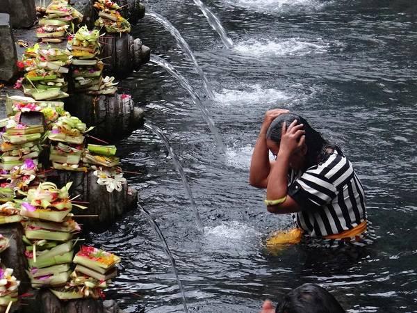 Exploramum Poster featuring the photograph Bali Temple Fountain Cleansing by Exploramum Exploramum