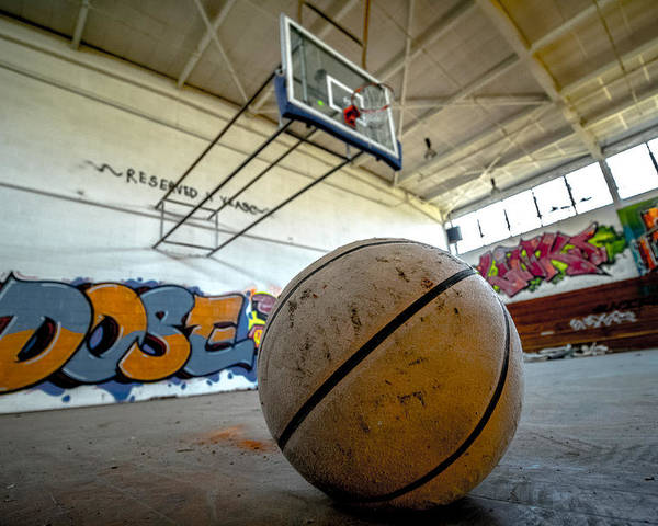 Basketball Poster featuring the photograph Ball Is Life by Mike Dunn