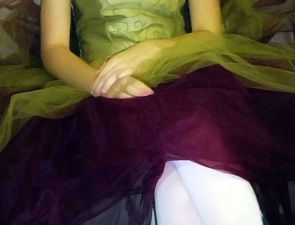 Abstract Poster featuring the photograph Ballerina Lap by Angelina Vick