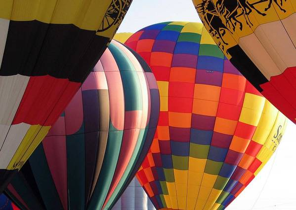 Hot Air Balloons Poster featuring the photograph Balloons by Margaret Fortunato
