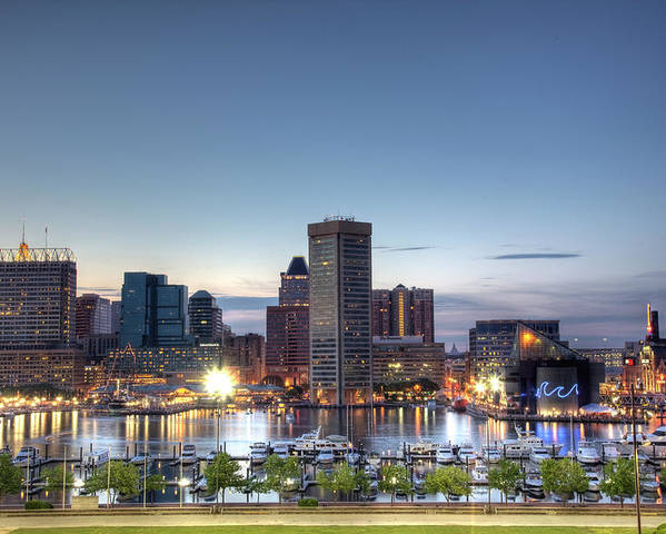 Baltimore Poster featuring the photograph Baltimore Harbor by Shawn Everhart
