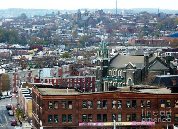 Cities Poster featuring the photograph Baltimore Rooftops by Carol Groenen