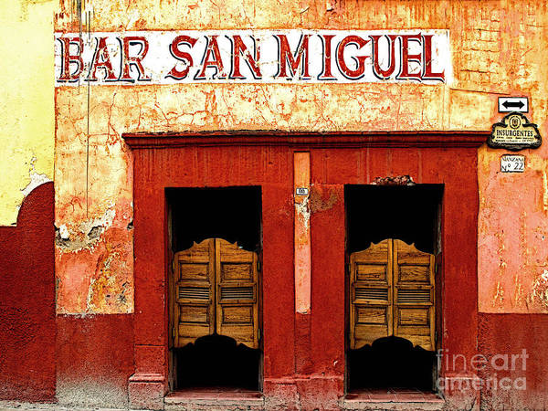 Darian Day Poster featuring the photograph Bar San Miguel by Mexicolors Art Photography