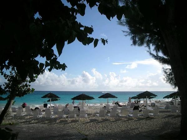 Barbados Poster featuring the photograph Barbados Umbrellas by Caroline Urbania Naeem
