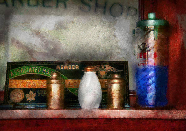 Hdr Poster featuring the photograph Barber - Things You Stare At by Mike Savad