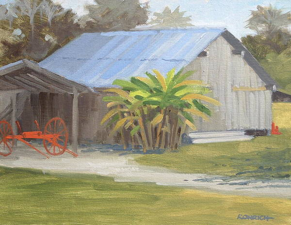Barn Poster featuring the painting Barberville Barn by Robert Rohrich