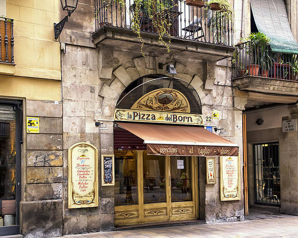Barcelona Poster featuring the photograph Barcelona Pizzeria by Georgia Fowler