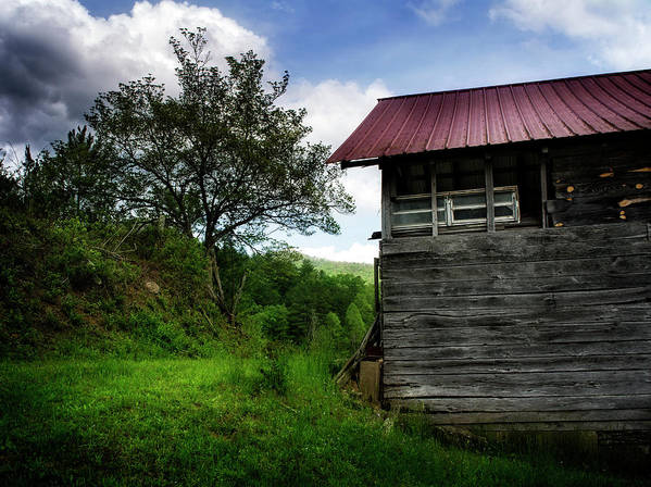 Barn Poster featuring the photograph Barn After Rain by Greg Mimbs