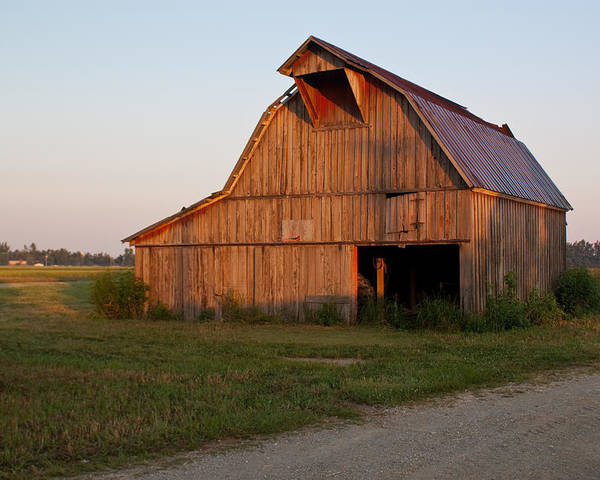 Barn Poster featuring the photograph Barn At Early Dawn by Douglas Barnett