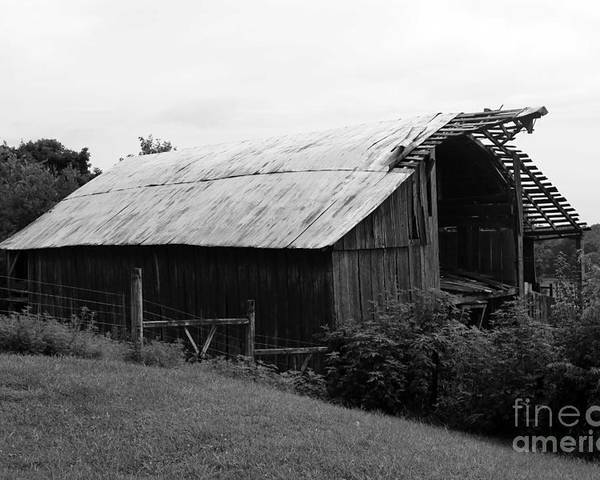 B&w Poster featuring the photograph Barn In Kentucky No 86 by Dwight Cook
