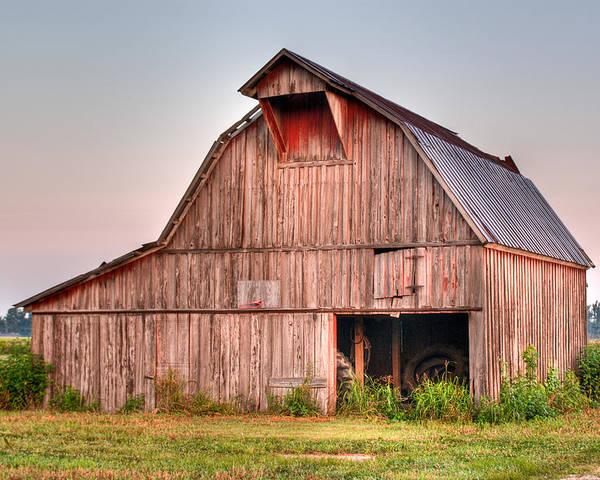 Barn Poster featuring the photograph Barn Near Walnut Ridge Arkansas by Douglas Barnett