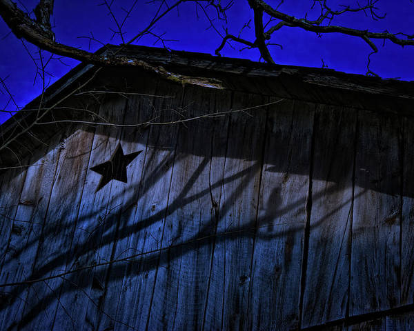 Barn Poster featuring the photograph Barn Shadows by Mark Dottle