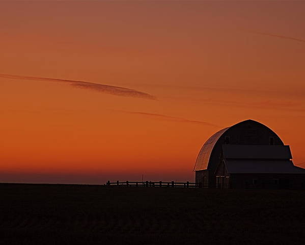 Poster featuring the photograph Barnyard Sunset by Mark Lemon