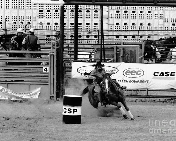 Rodeo Poster featuring the photograph Barrel Racer by Susan Chandler