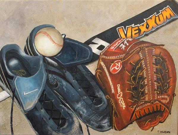 Baseball Poster featuring the painting Baseball Allstar by Teri Vaughn