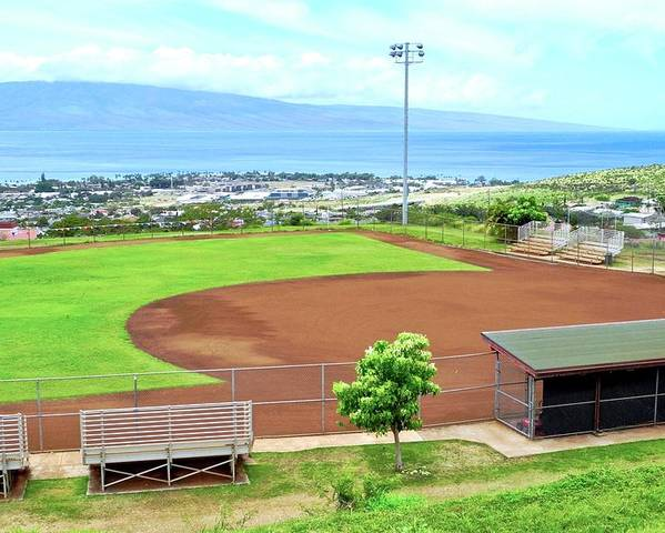 Baseball Field Poster featuring the photograph Baseball Field at Lahainaluna High School by Kirsten Giving