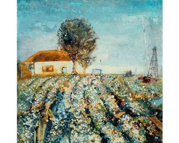 Fields Of Cotton Poster featuring the painting Basics Heritage by Helen Musser