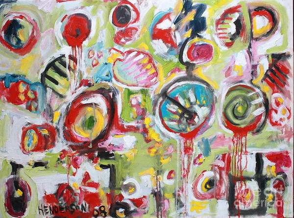 Abstract Painting Poster featuring the painting Basket Of Fruit by Michael Henderson