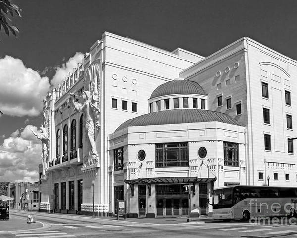 Urban Poster featuring the photograph Bass Hall 5480mbwx by Earl Johnson