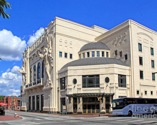 Urban Poster featuring the photograph Bass Hall 5480mxx by Earl Johnson