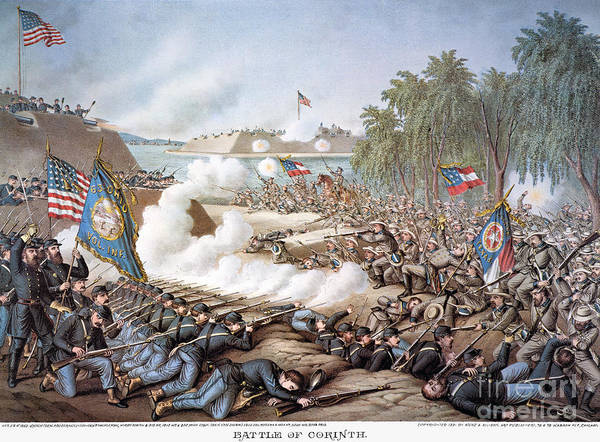 1862 Poster featuring the photograph Battle Of Corinth, 1862 by Granger