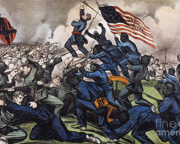 1863 Poster featuring the photograph Battle Of Fort Wagner, 1863 by Granger